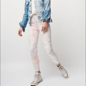 Free people marbled skinny jeans!